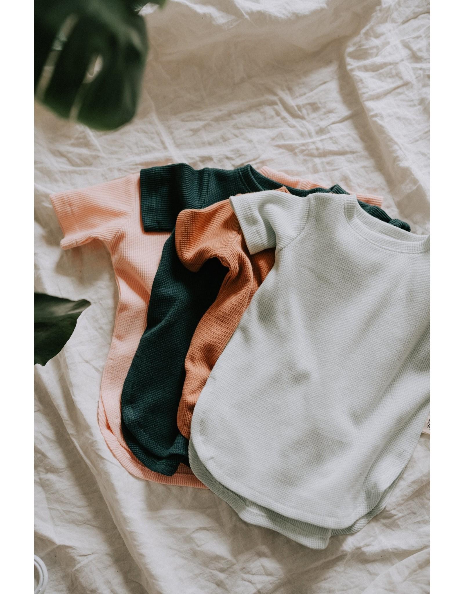 Little Yogi Little Yogi, T-Shirt Gaufré, Manches Courte, Vert Gables