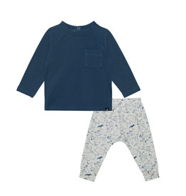 Deux Par Deux Deux Par Deux, Chandail Et Pantalon, Bleu Cendre