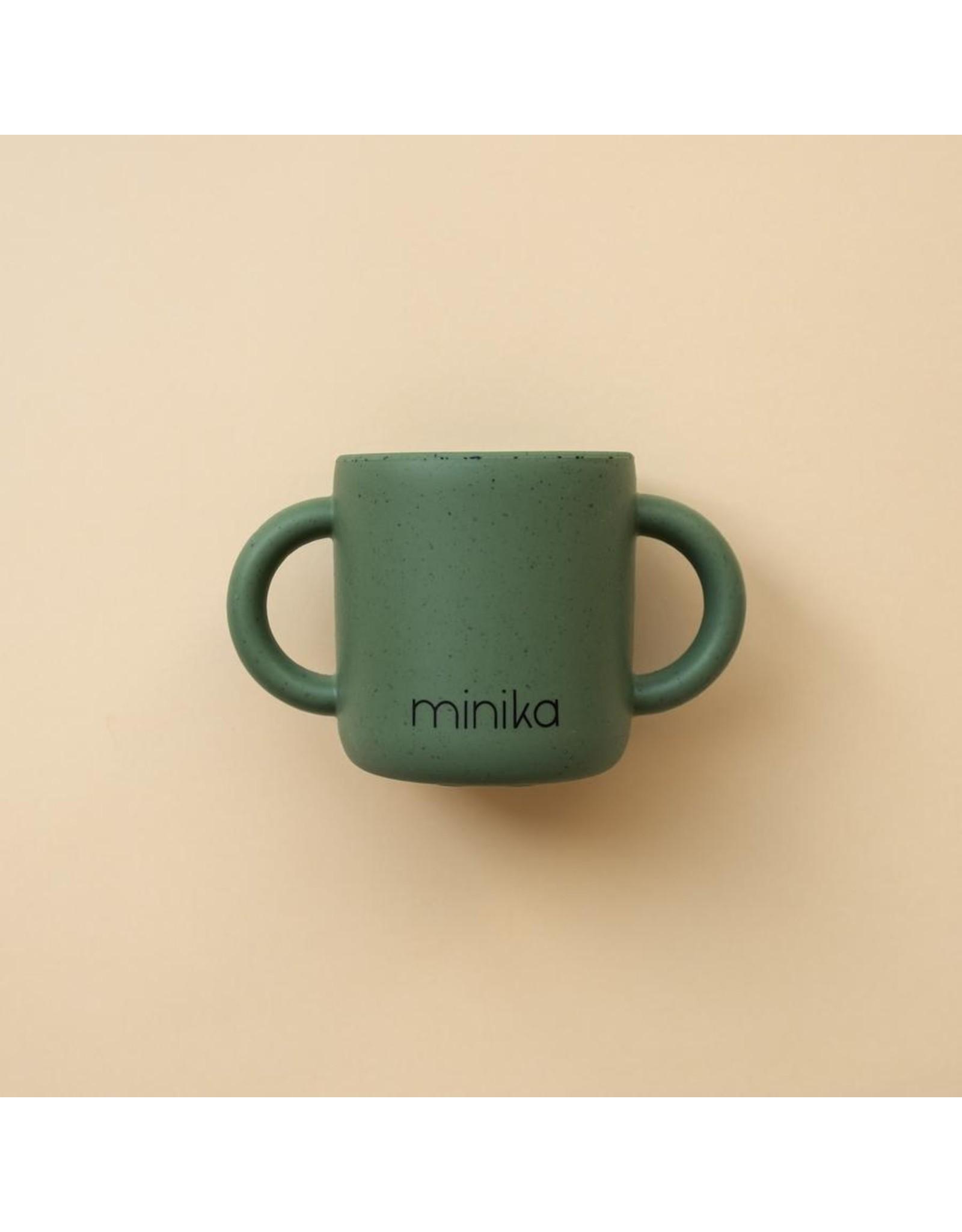 Minika Minika Tasse D'apprentissage Avec Poignées Leaf