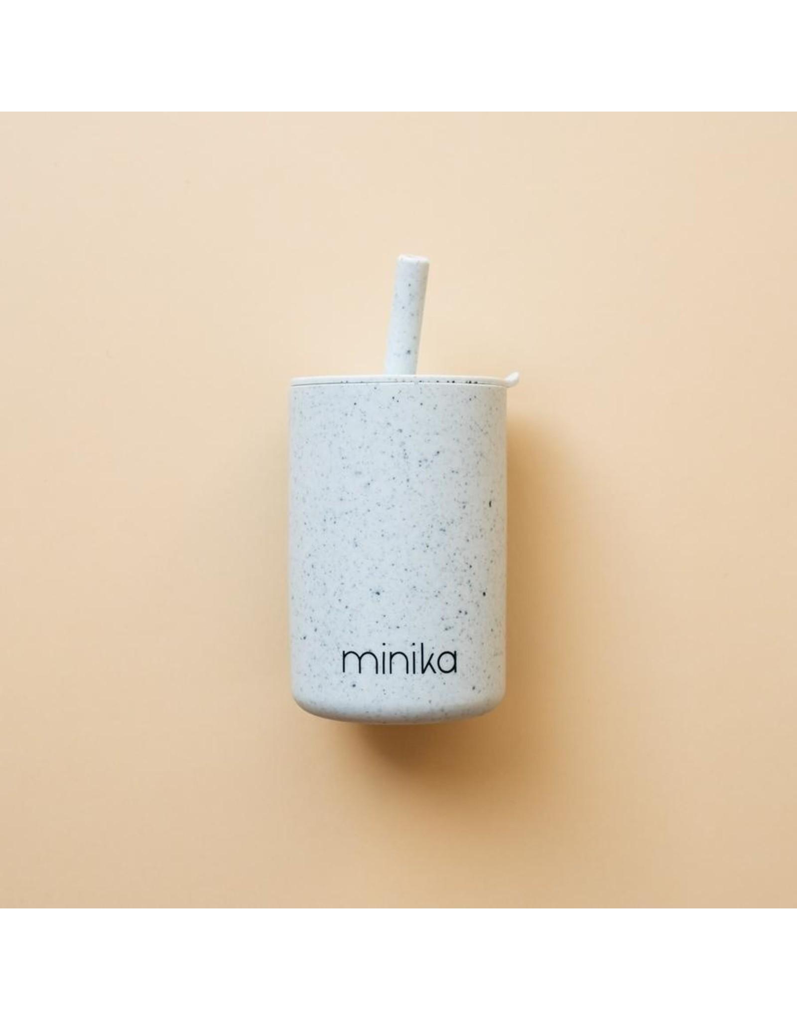 Minika Minika Verre Avec Paille et Couvercle Ice