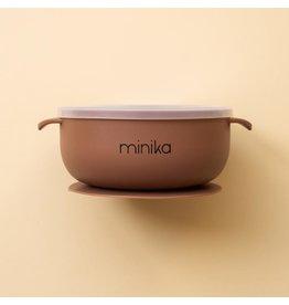 Minika Minika, Bol En Silicone Avec Couvercle Cacao