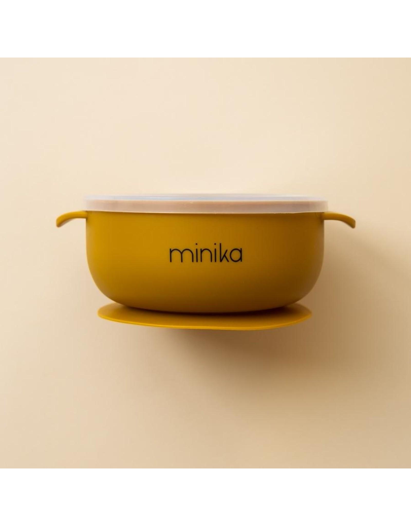 Minika Minika, Bol En Silicone Avec Couvercle Ocre