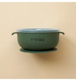 Minika Minika, Bol En Silicone Avec Couvercle Leaf