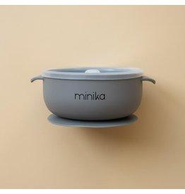 Minika Minika, Bol En Silicone Avec Couvercle Stone