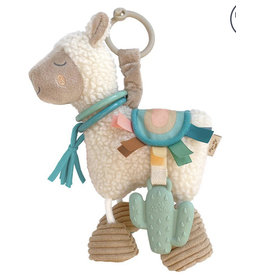 Itzy Ritzy Link And Love Llama Activity Plush With Theeter Toy
