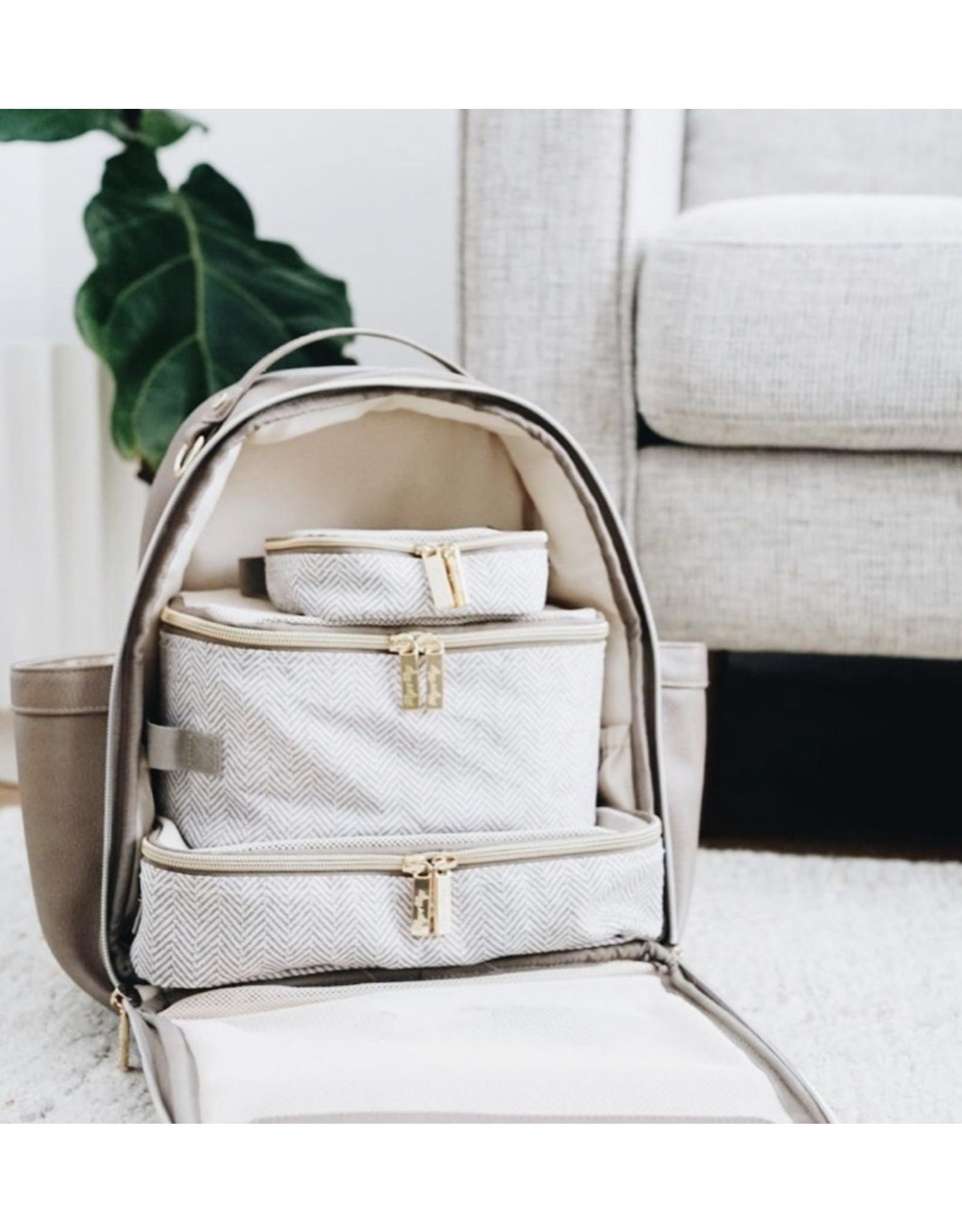 Itzy Ritzy Itzy Ritzy Diaper Bag Backpack, Vanilla Latte