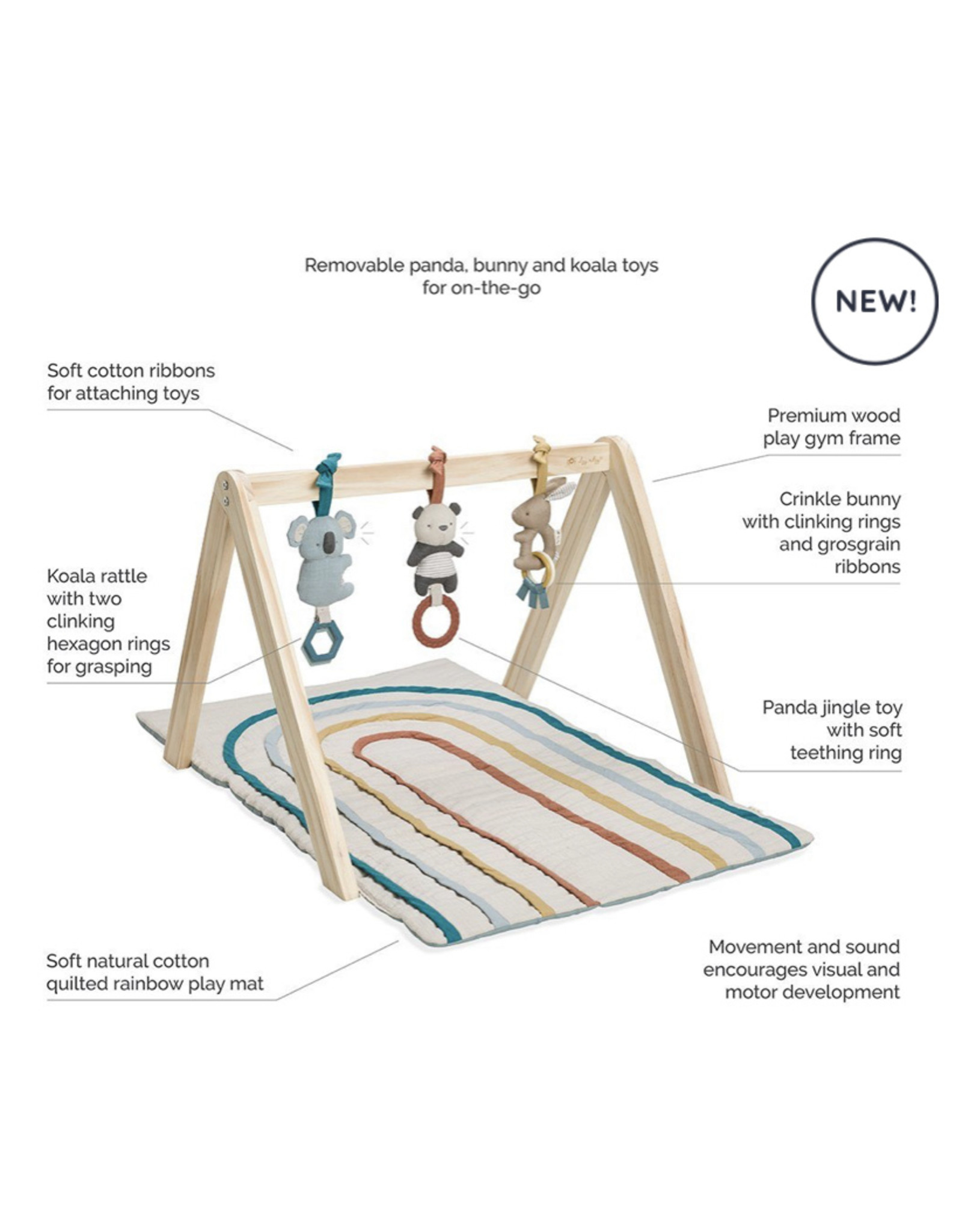 Itzy Ritzy Itzy Ritzy, Activity Gym  Wooden  with Toys