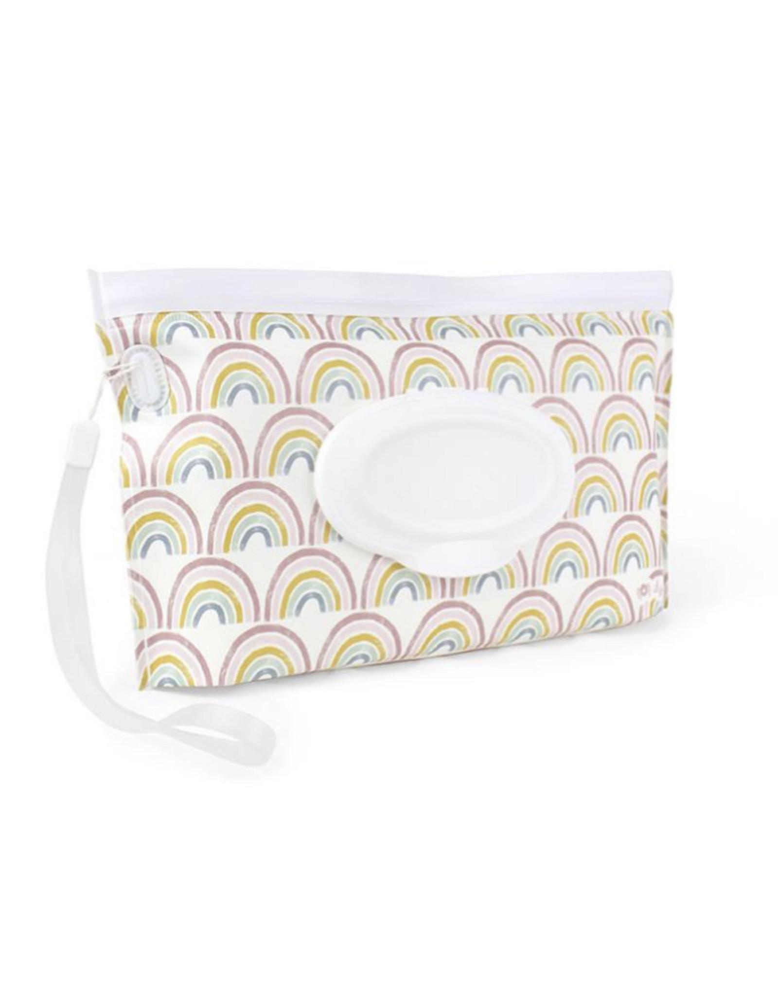 Itzy Ritzy Itzy Ritzy Reusable Pouch Wipes Case Rainbow