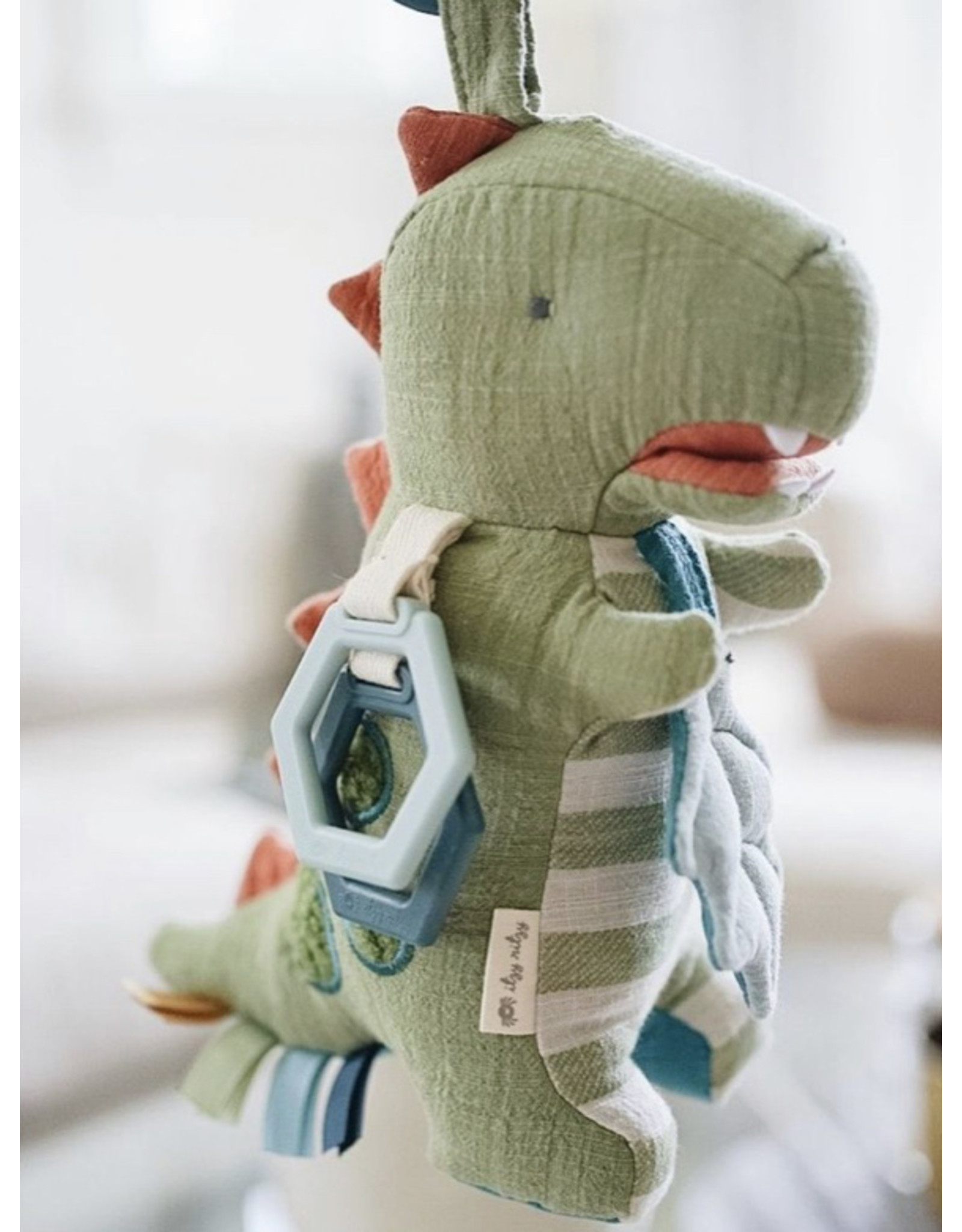 Itzy Ritzy Link And Love, Dino Activity Plush + Theeter