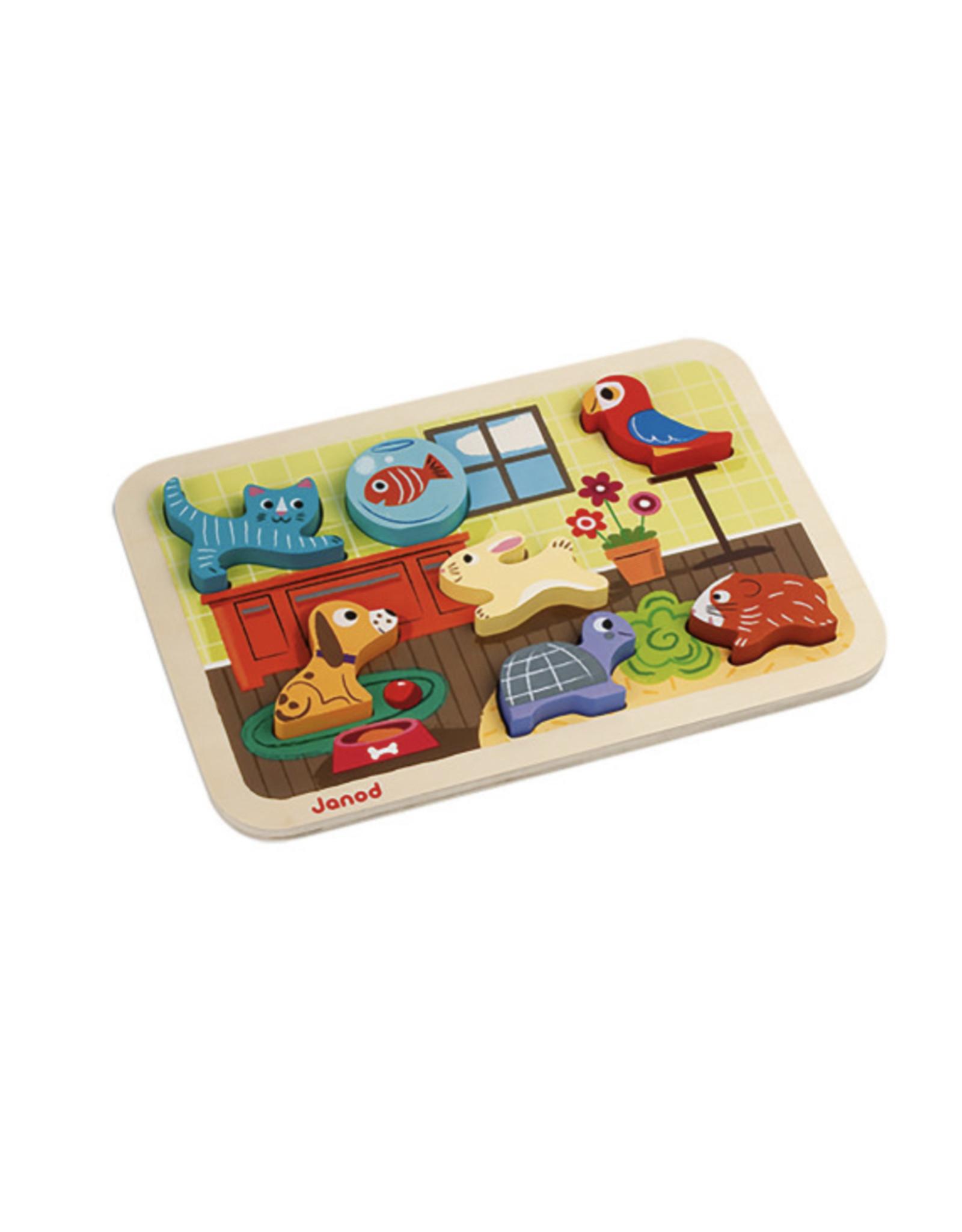 Janod Janod, Puzzle Chunky, Animo