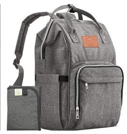 KeaBabies, Original Diaper Backpack, Classic Gray