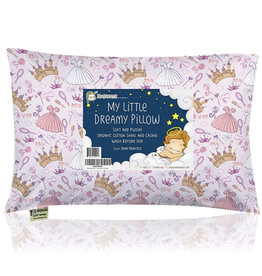 KeaBabies, Toddler Pillow With Pillowcase, Dear Princess