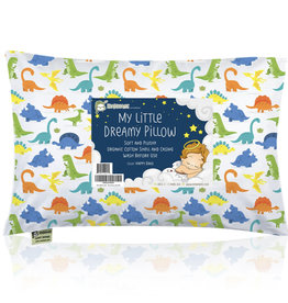 KeaBabies, Toddler Pillow With Pillowcase, Happy Dino