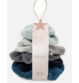 Kitsch Holiday Scrunchies-Snowy Mint
