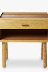 GE 430 bedside table by Hans J. Wegner   Lacquered oak   1 drawer