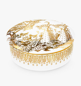 Bonbonniere Mascarade jar by Bjorn Wiinblad | Porcelain | Gold | 160mm