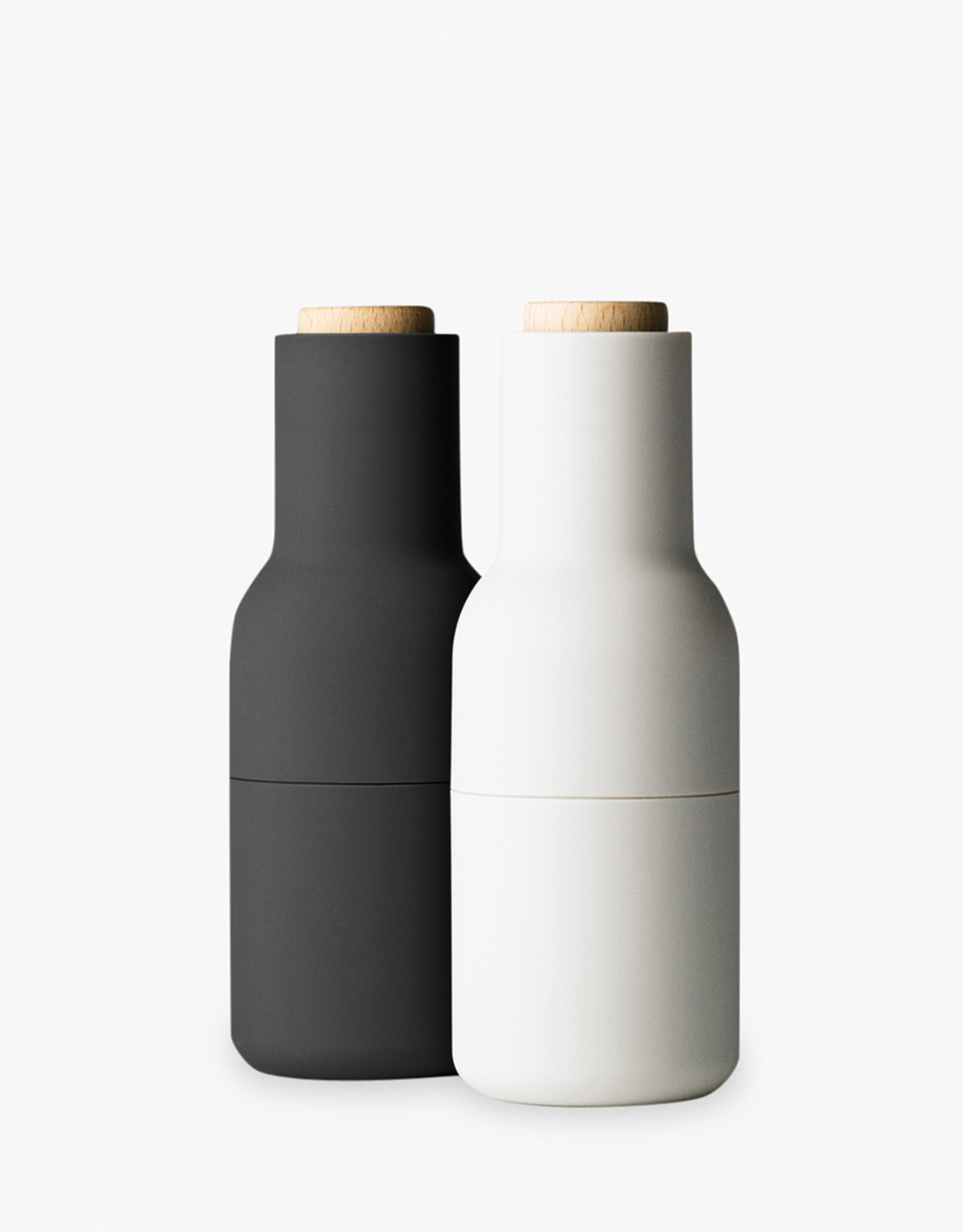 Bottle Grinders set by Norm Architects | Carbon/ash | Beech lid