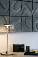 Nuura Blossi table light by Sofie Refer |  Nordic gold/optic clear