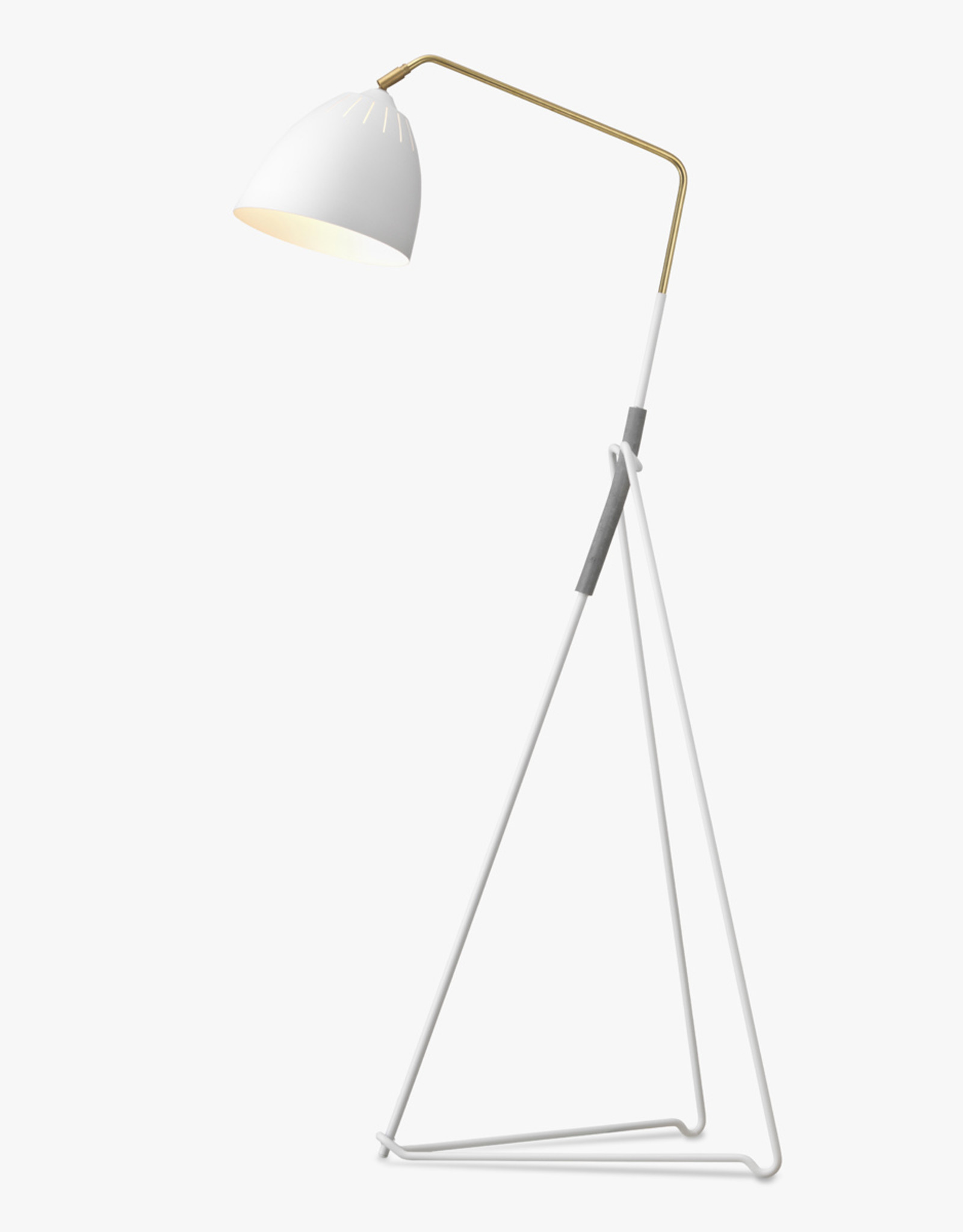Lean floor light by Jenny Bäck | White | W68cm x H130cm | 1x E27 7W LED bulb required