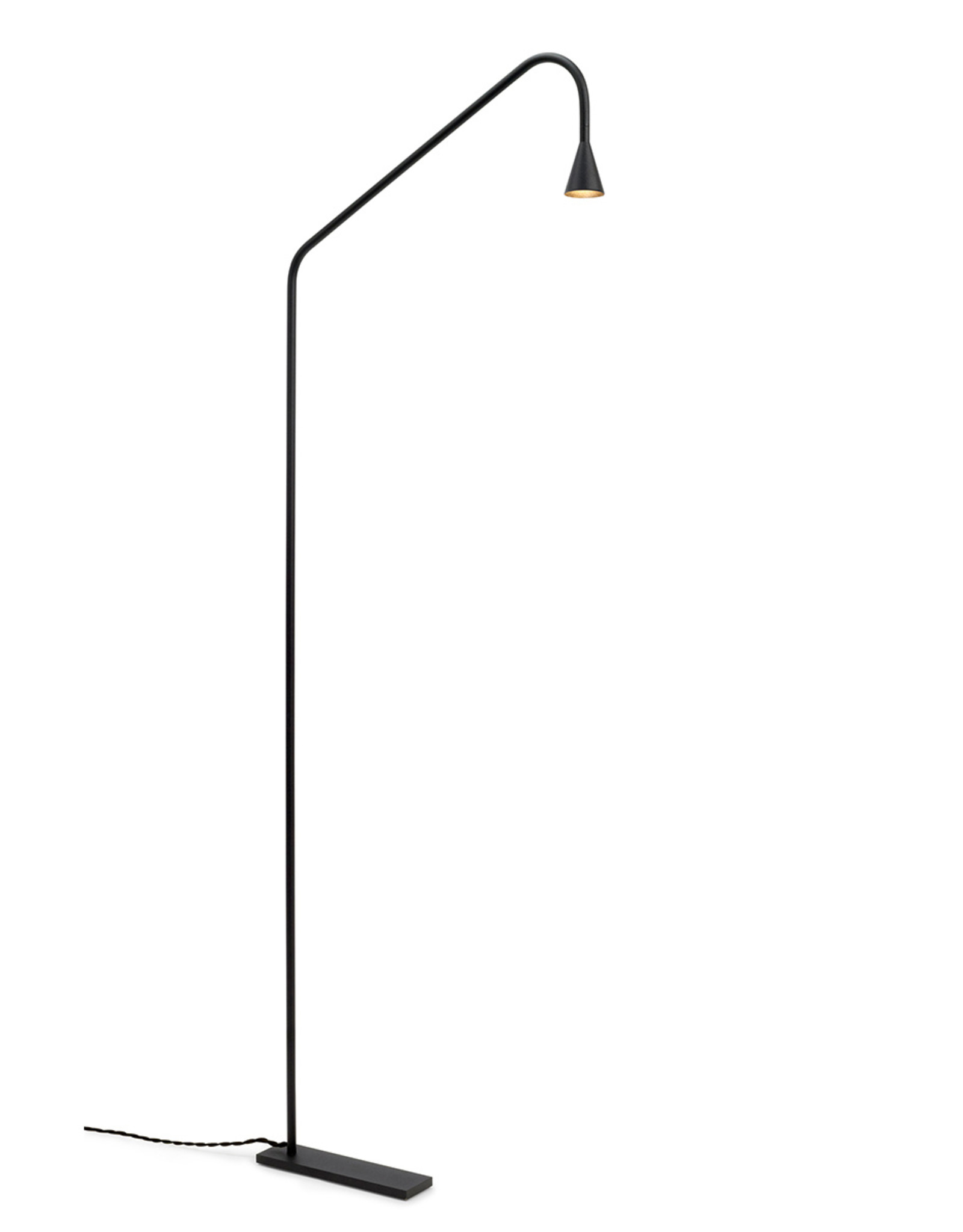 Austere floor light by Hans Verstuyft   Black