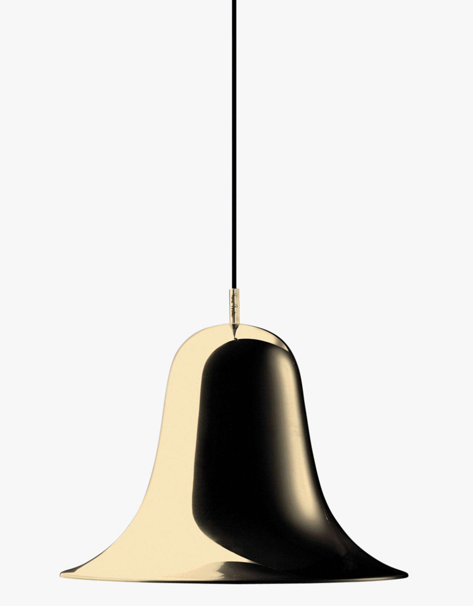 Pantop table light by Verner Panton | Shiny brass | Dia30cm x H52cm | 1x E27 max 60W bulb required