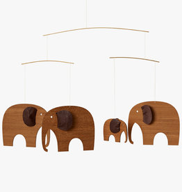 Flensted Elephant Party mobile by Ole Flensted | Teak