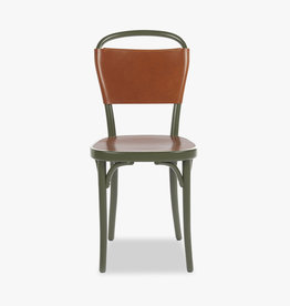 Vilda 3 chair by Jonas Bohlin | Cognac Tärnsjö leather | Green lacquered beech frame | SH470mm
