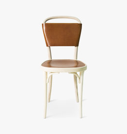 Vilda 3 chair by Jonas Bohlin | Cognac Tärnsjö leather | White oiled ash frame | SH470mm