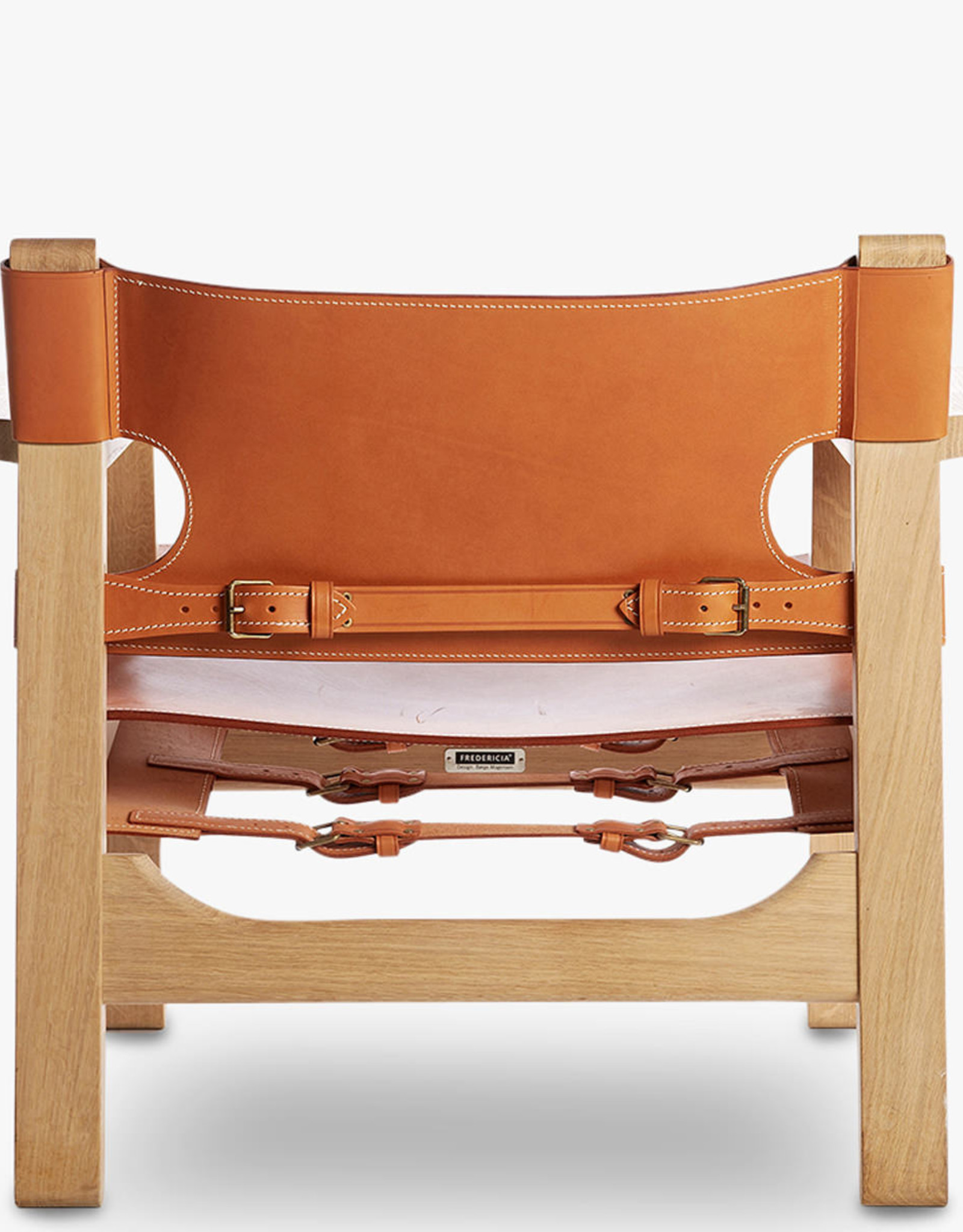 FREDERICIA Spanish Chair by Børge Mogensen | Natural leather | Soaped oak frame | SH330mm