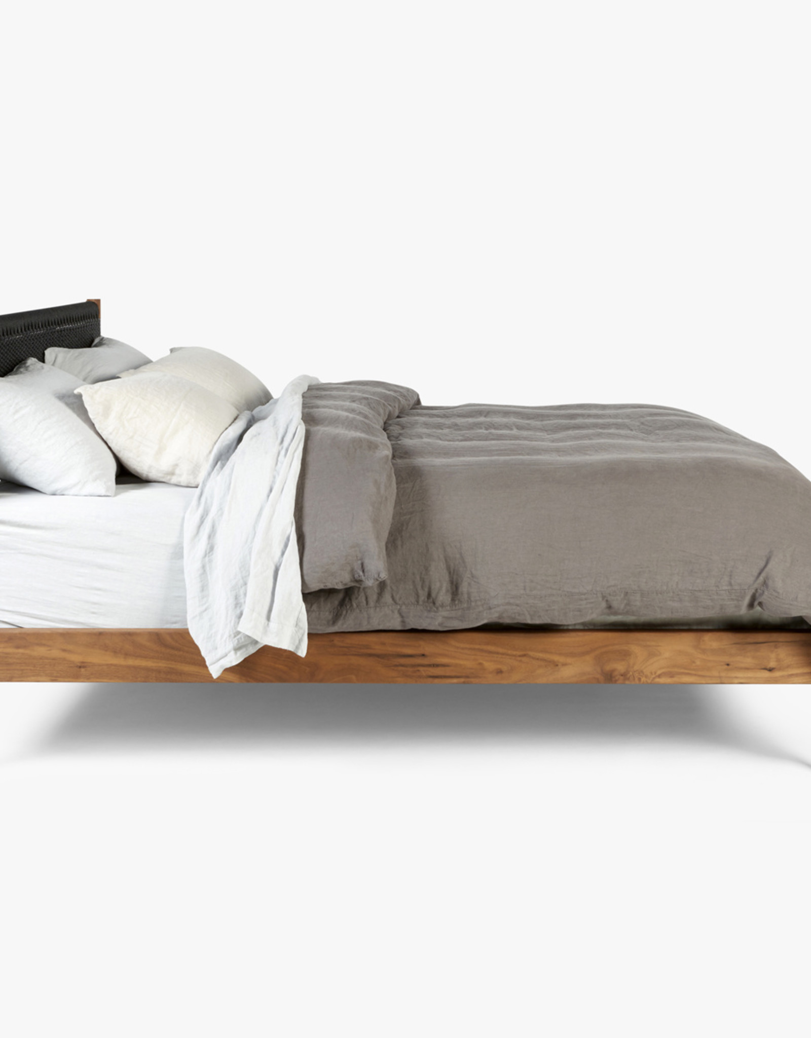 Klassik Papercord Bed by Great Dane | Queen | Black cord heading | Oiled walnut frame