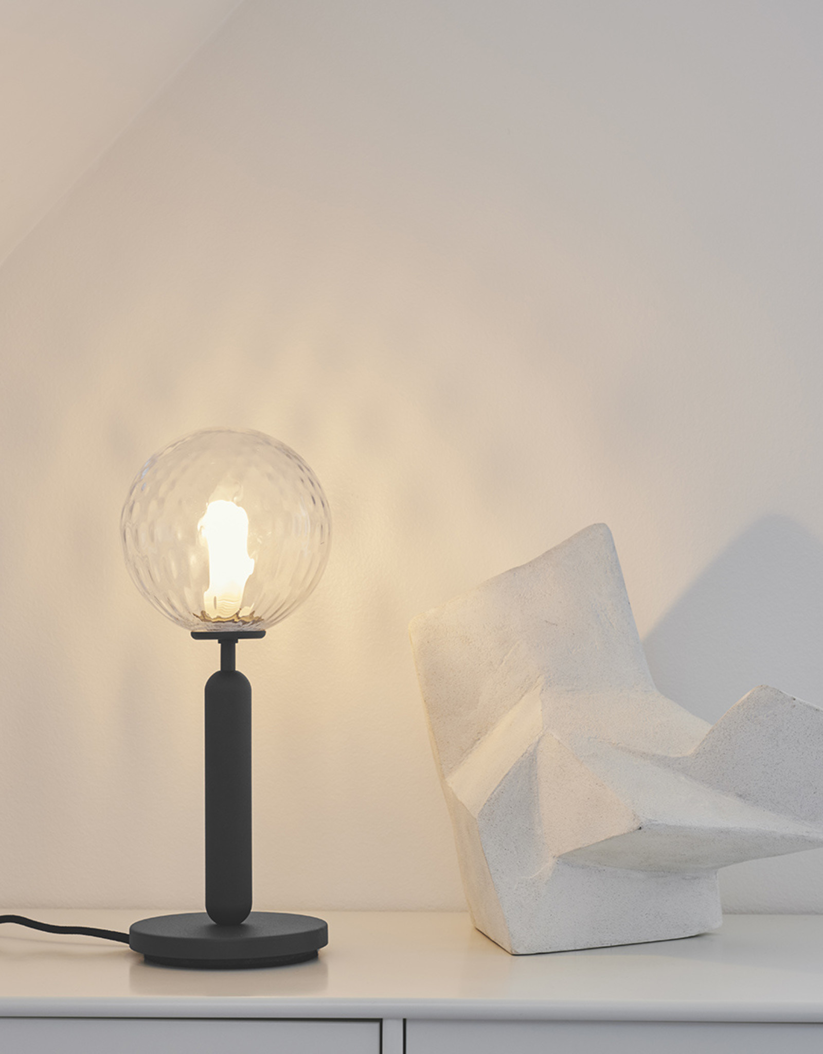 Nuura Miira table light by Sofie Refer   Rock grey/optic clear