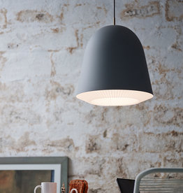 Caché pendant light by Aurelién Barbry   Grey   L   W40cm x H42cm   1x E27 1200 LM max. 20W LED bulb required