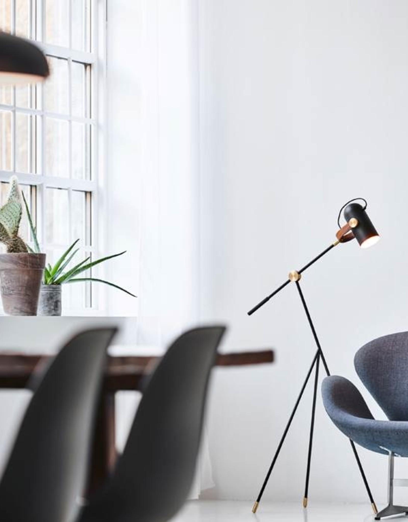 Carronade high floor lamp by Markus Johansson | Black