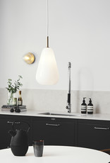 Nuura Anoli 1 pendant by Sofie Refer | M | Nordic gold/opal white