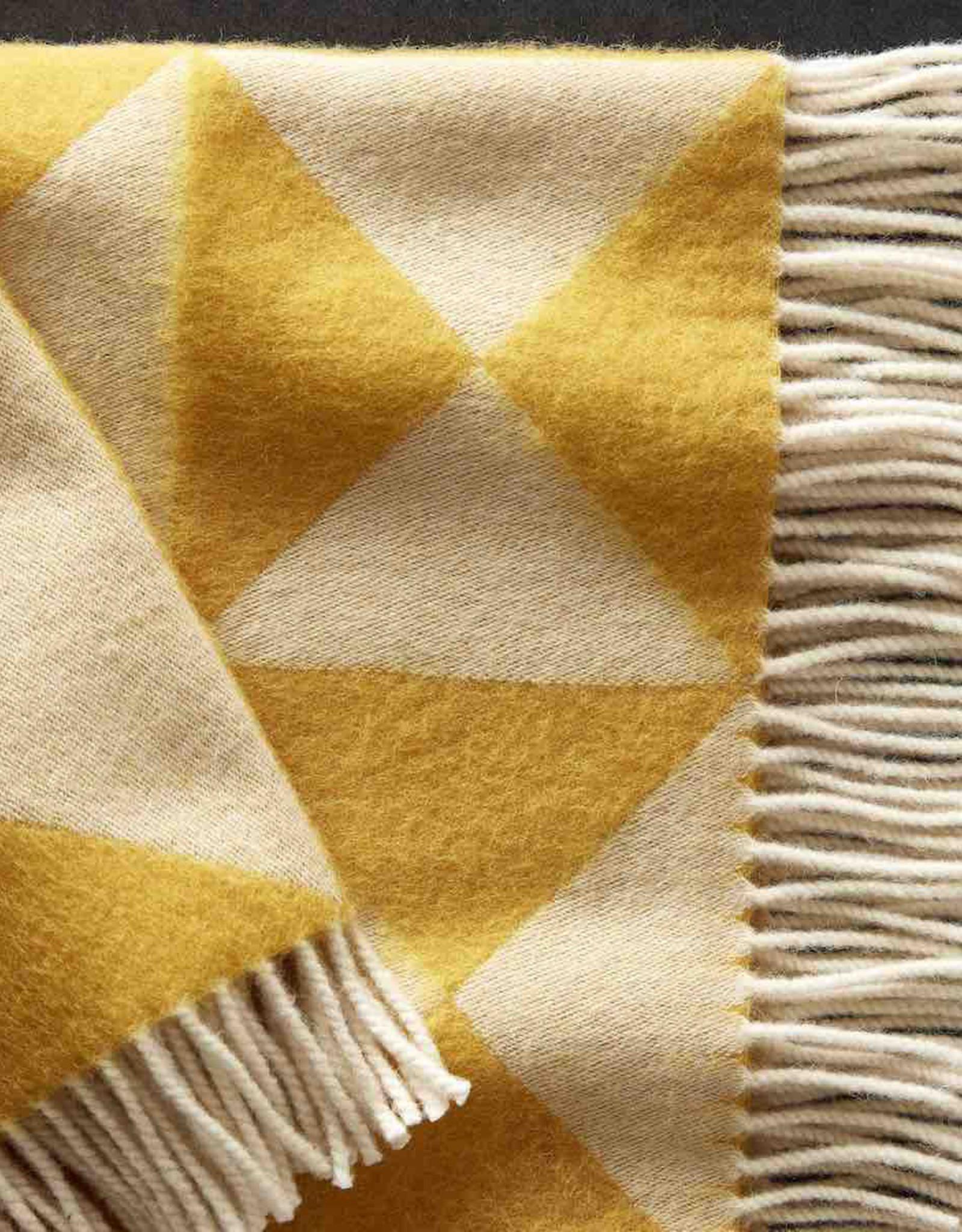 Mirror throw by Verner Panton   Yellow   NZ wool   L198cm x W130cm