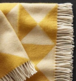 Mirror throw by Verner Panton | Yellow | NZ wool | L198cm x W130cm