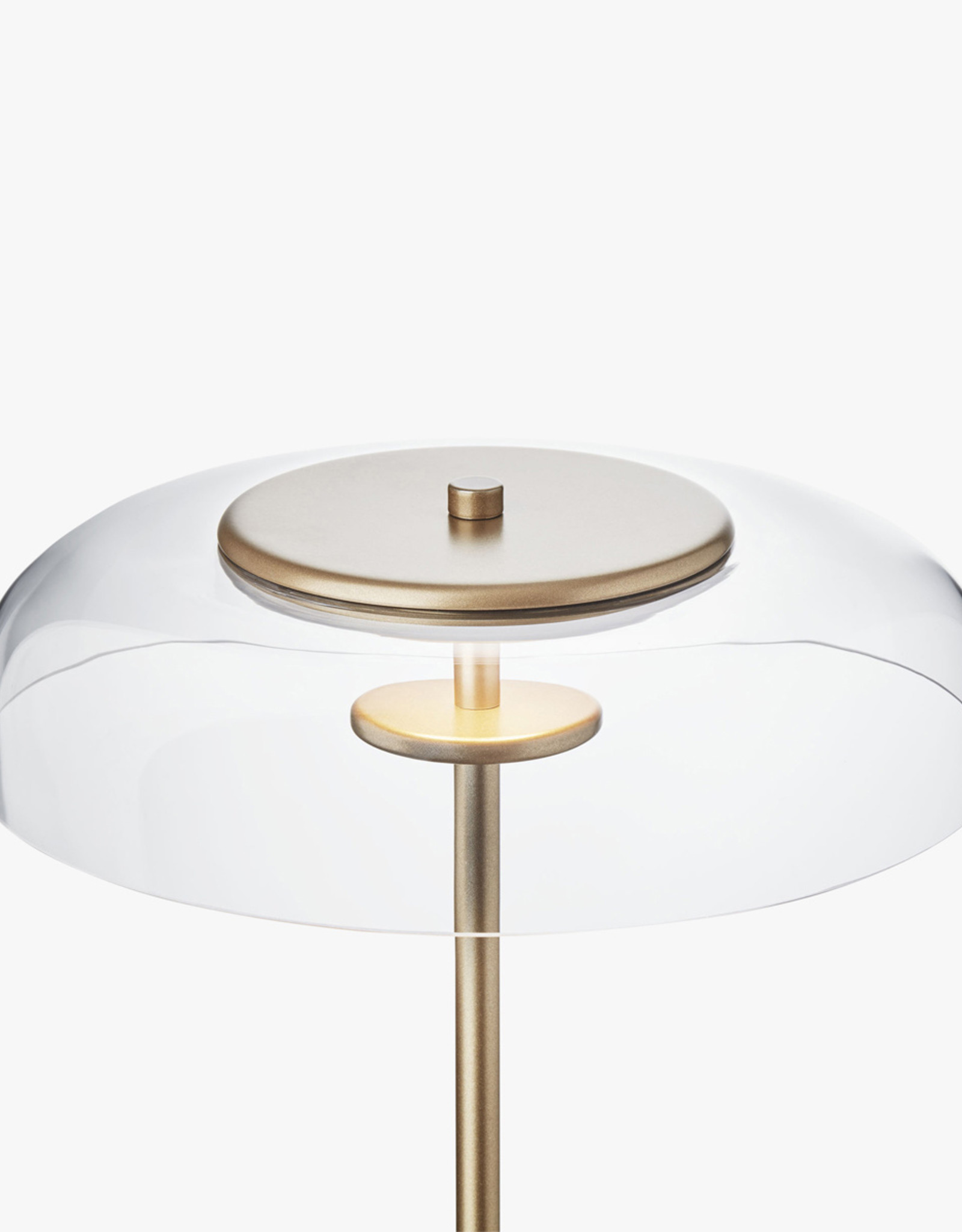 Nuura Blossi floor light by Sofie Refer | Nordic gold/optic clear