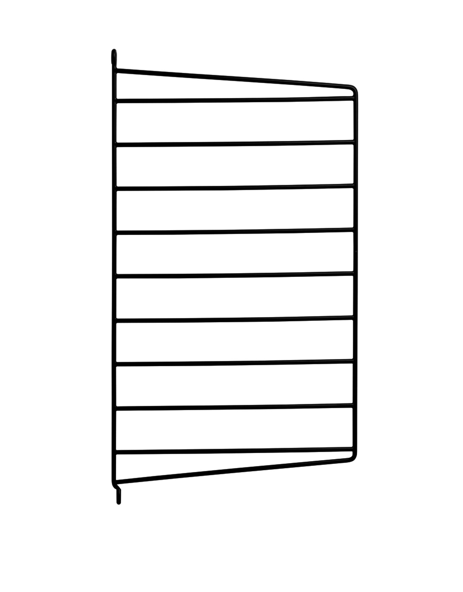 String String   Bedside Bundle   Walnut   Black frame