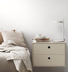 String String | Bedside Bundle | Walnut shelves/black frame