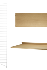 String String | Desk Bundle | Oak shelves/White frame