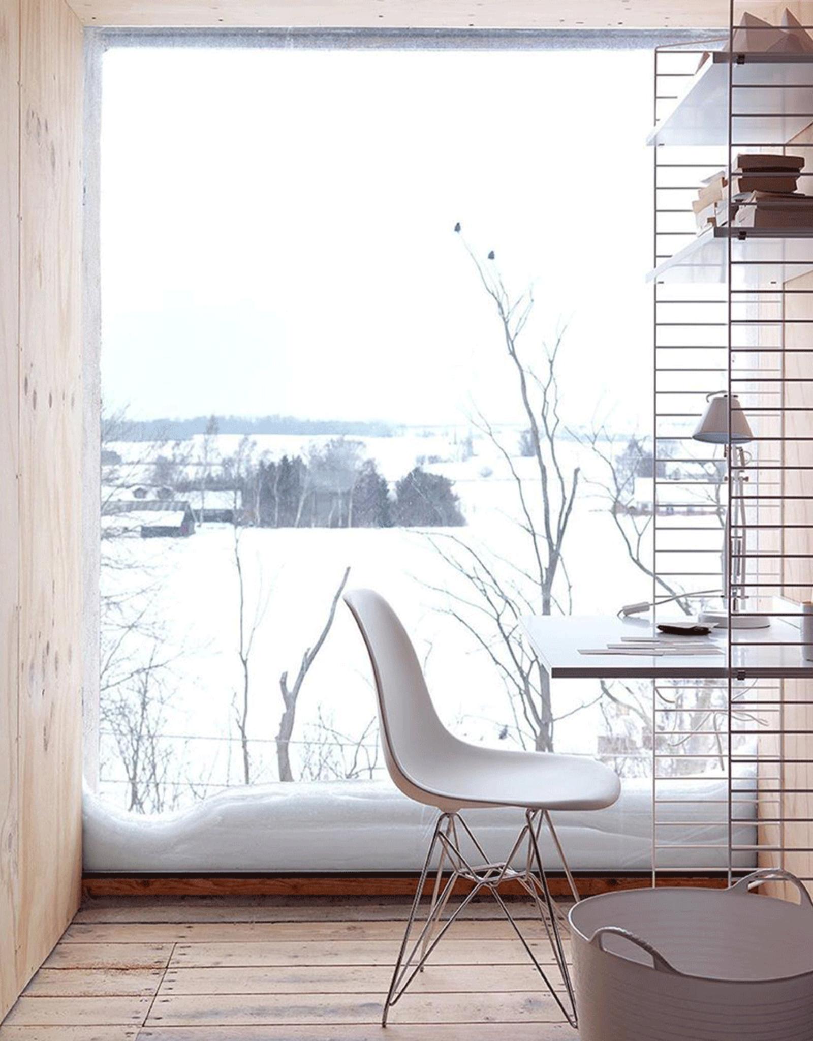 String   Desk Bundle   Oak shelves/White frame