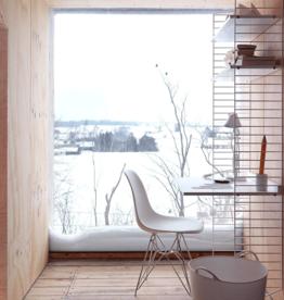 String String | Desk Bundle | Oak shelves/White frame