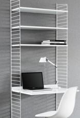 String String   Desk Bundle   Walnut   Black frame