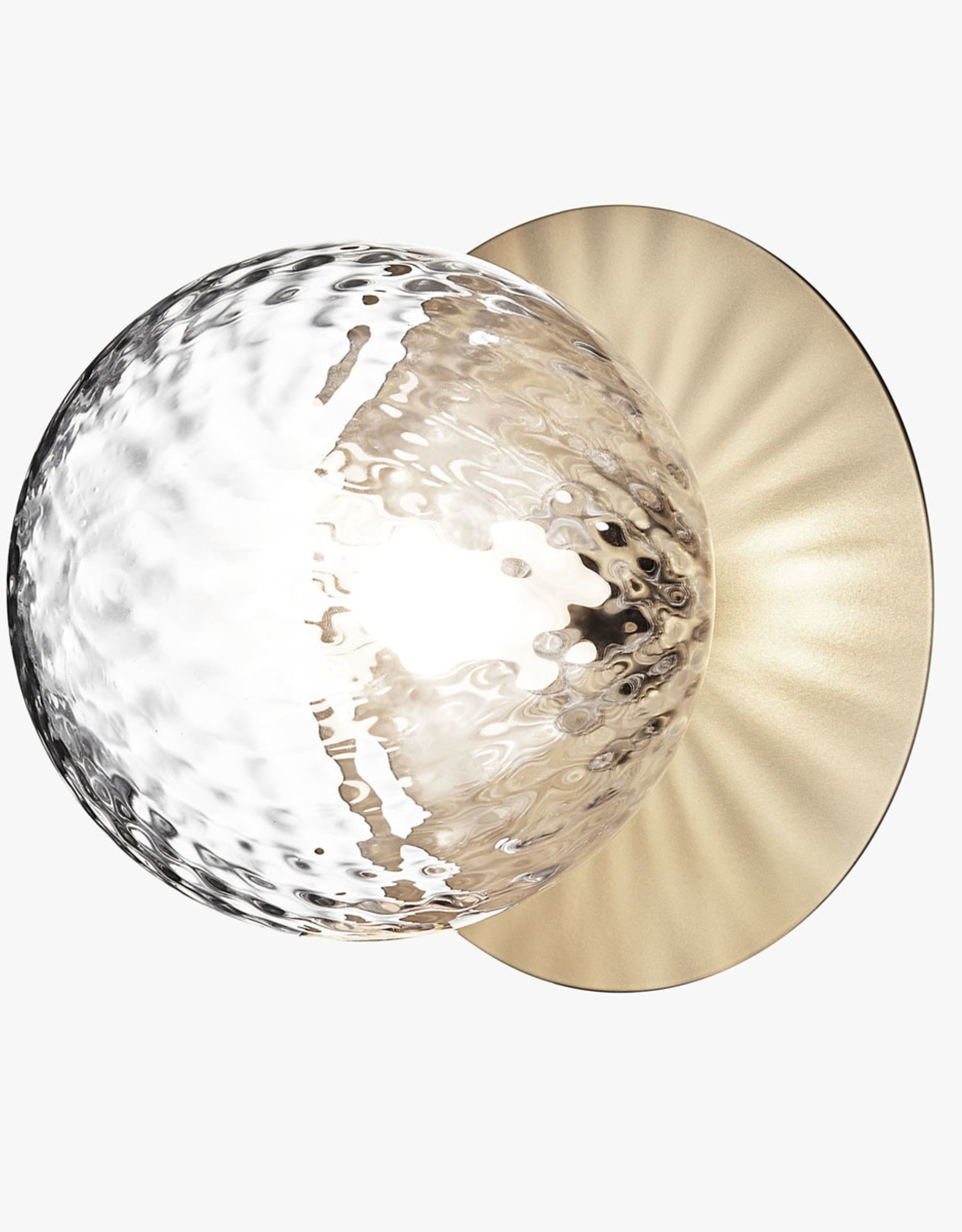 Nuura Liila 1 wall light by Sofie Refer | L | Nordic gold/optic clear