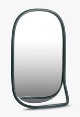 Butler mirror by Mathieu Gustafsson | Green lacquered beech