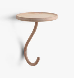 Kapten 1 by Mia Cullin | 1 Hook | Shelf | White stain beech | Dia24.5cm x H29cm