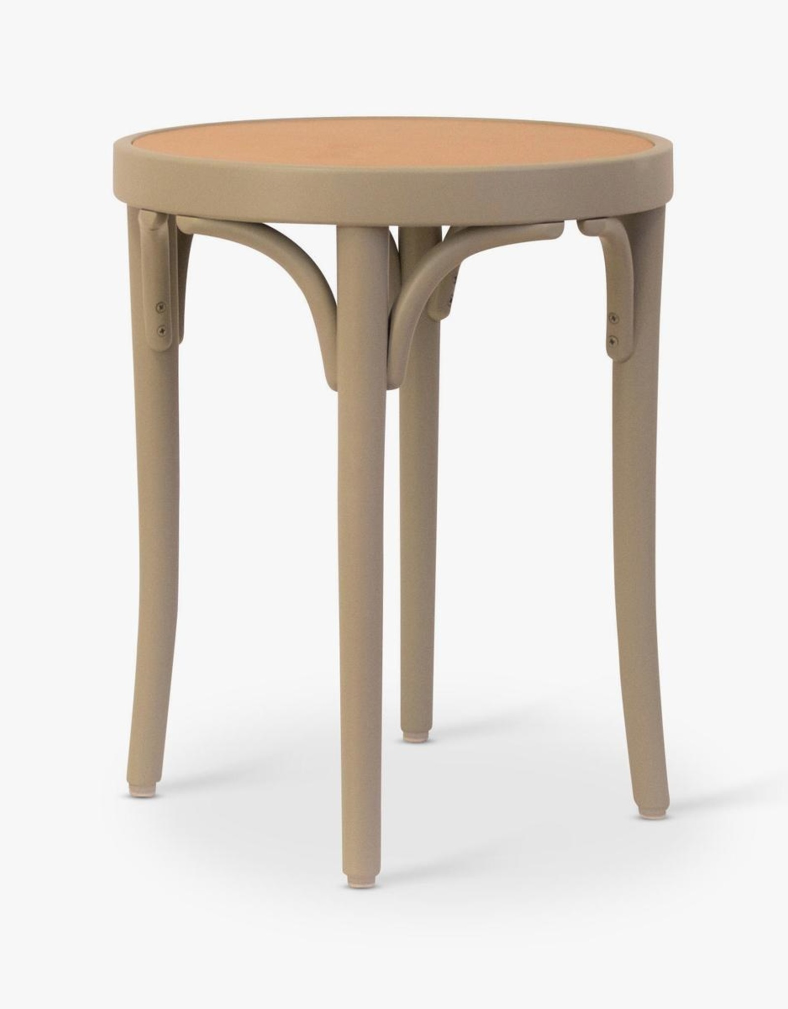Diö side table by Gemla | Green lacquered beech frame | Congac leather seat