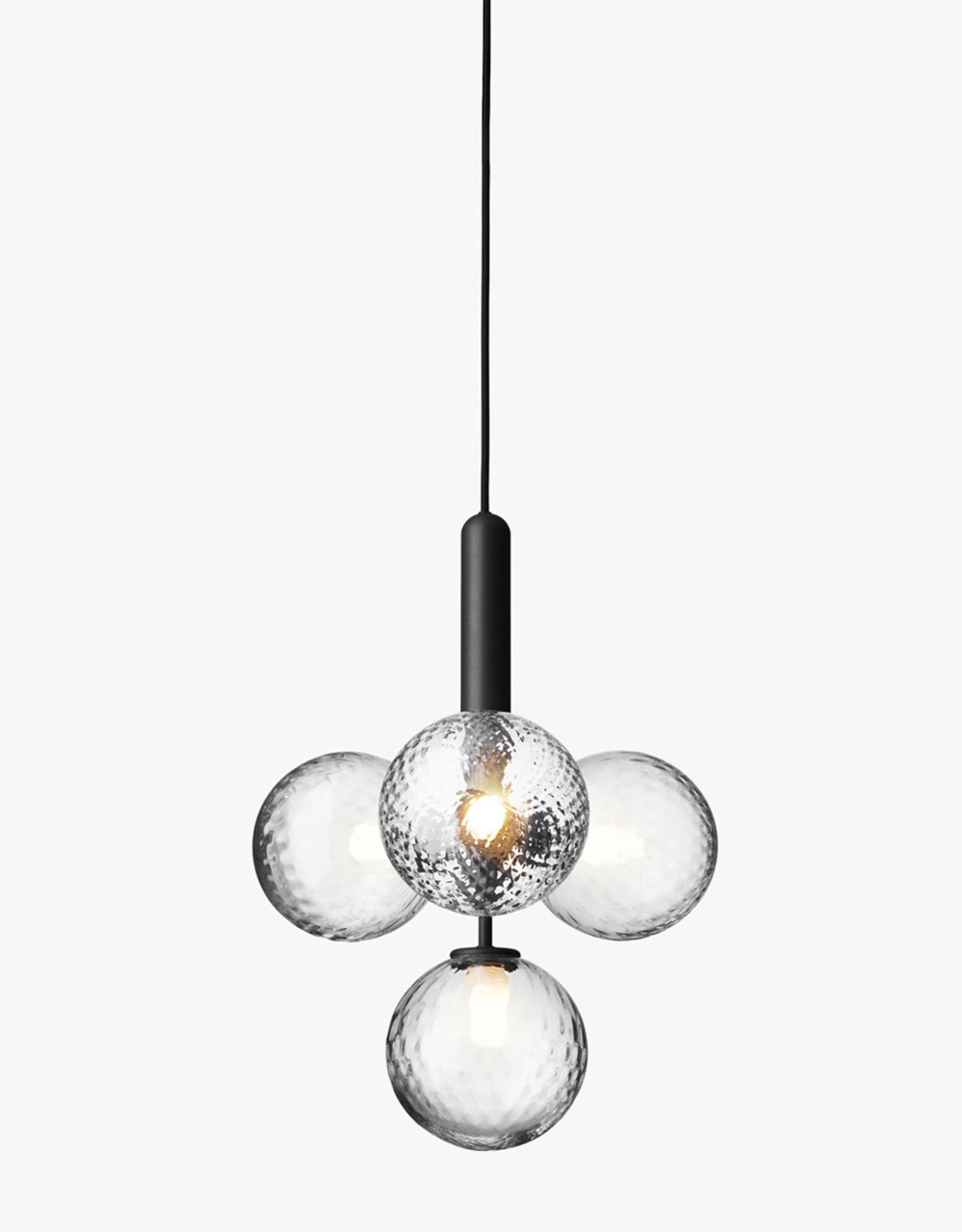 Nuura Miira 4 chandelier by Sofie Refer | Rock grey/optic clear