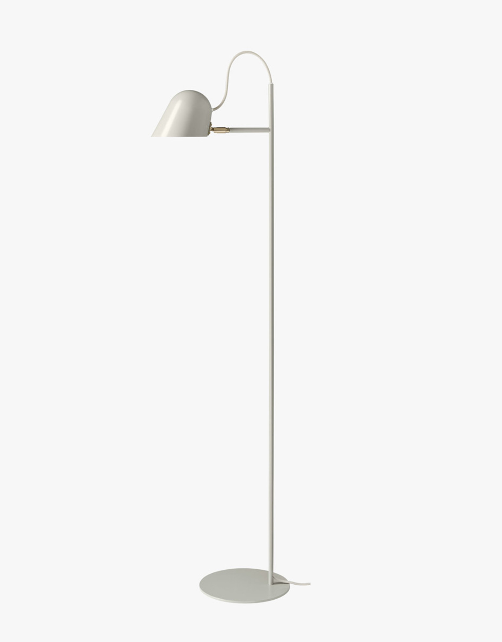 Streck floor light by Joel Karlsson | Warm grey/brass