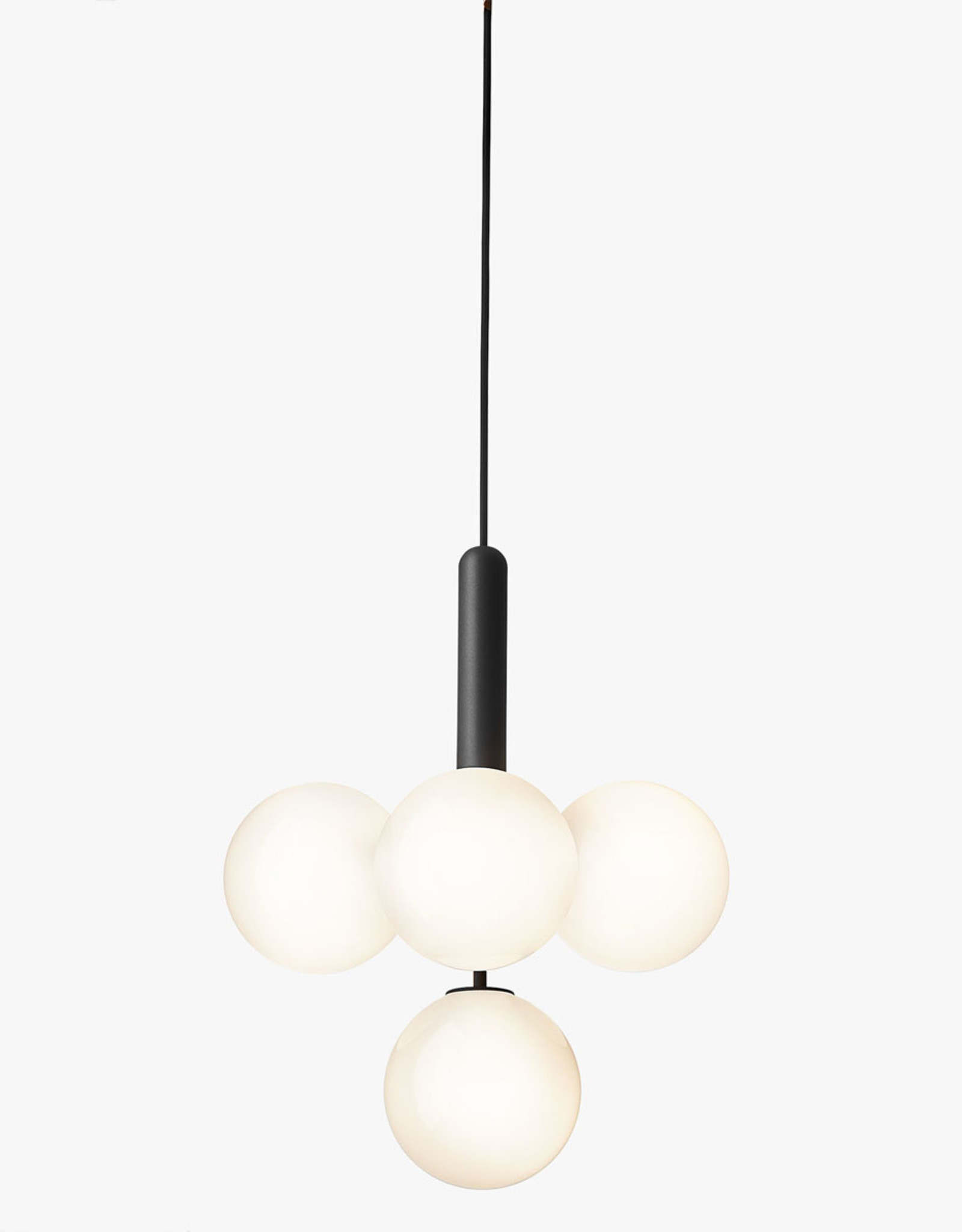Nuura Miira 4 chandelier by Sofie Refer | Rock grey/opal white